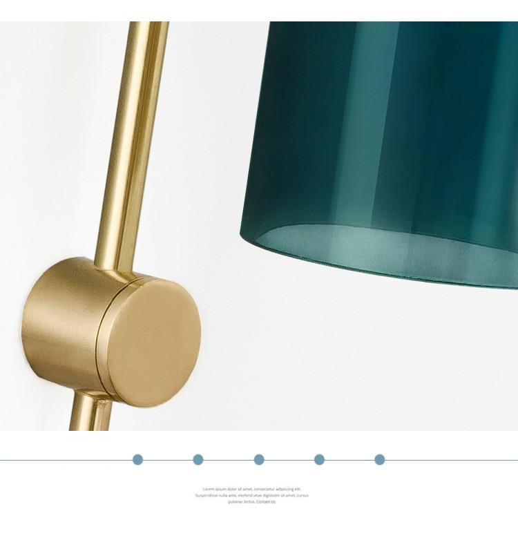 Nordic criativo azul de vidro sala de