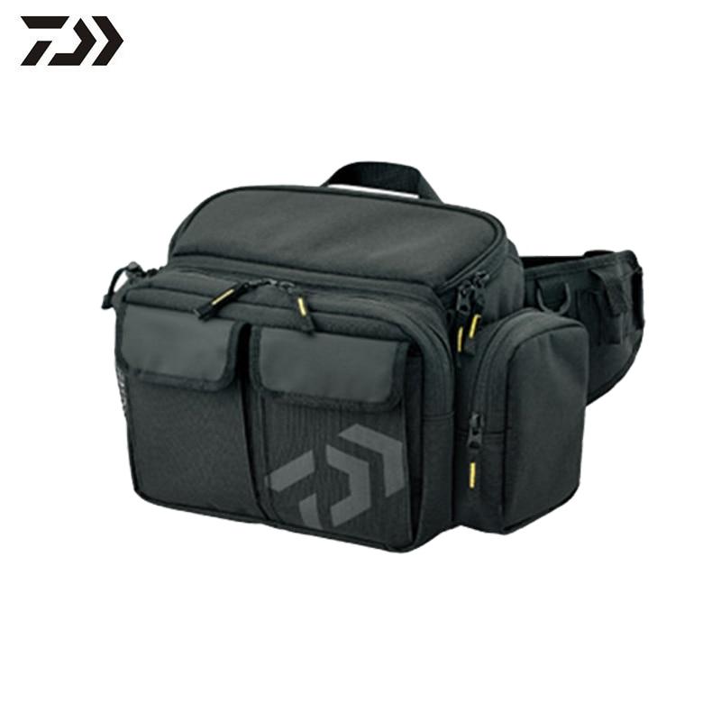 Canvas Fishing Bag Multifunctional Fishing Tool Storage Bag Outdoor Waist Shoulder Bag Case Reel Lure Carrier Storage