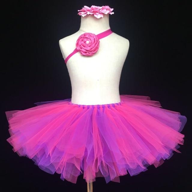 b36407d2681c Multicolor Girls Tutu Skirt Baby Handmade Tulle Skirts Ballet ...