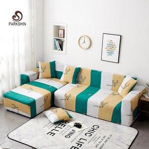 Image 1 - Parkshin Deer Slipcover Non slip Elastic Sofa Covers Polyester Four Season All inclusive Stretch Sofa Cushion 1/2/3/4 seater