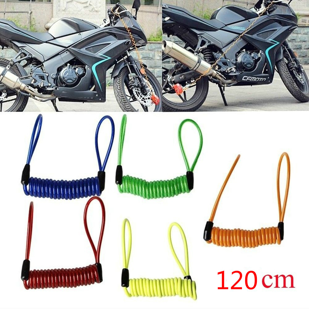 Motorcycle Parts Remind Rope 1.2m Scooter Motorcross Helmet Cable Bicycle Rope Anti-theft Motorbike Disc Brake Lock Reminder