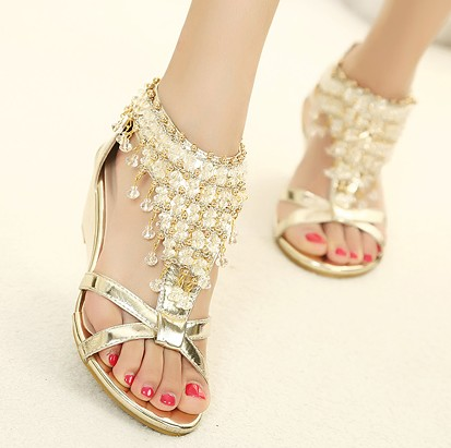 Pearl Colored Flat Shoes