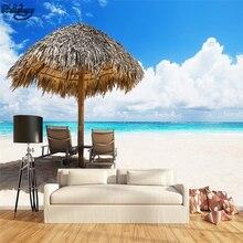 Image is loading Village-Wallpaper-Border-Nautical-Beach-Cottage-Umbrellas