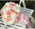 H1001 Colorful Lavender Artificial Flowers Wedding Bouquet 2016 Plastic Rose Romantic Wedding Brooch Bouquet Wedding Accessories