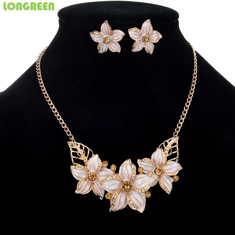 Flower Enamel Women Jewelry...