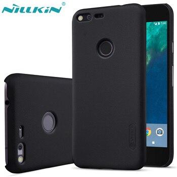 Coque pour HTC Google Pixel 3/Pixel XL housse NILLKIN Super givré bouclier mat couverture arrière rigide avec support pour téléphone Mobile