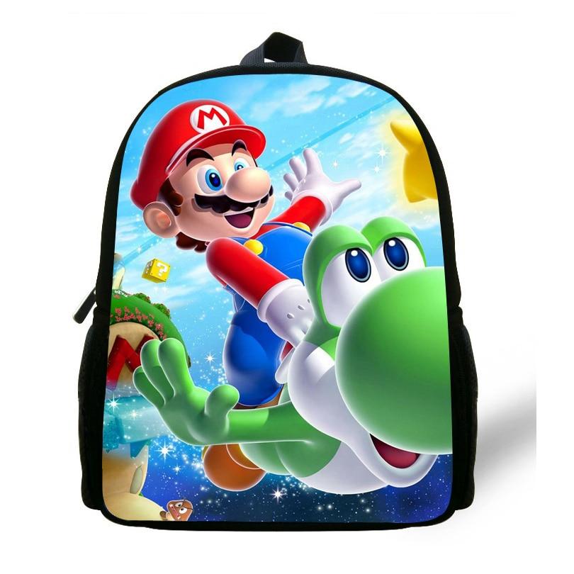 12-inch Cartoon Mochila School Kids Super Mario Bag Mini Boys Bag Children School Backpacks For Girls Kindergarten Age 1-6