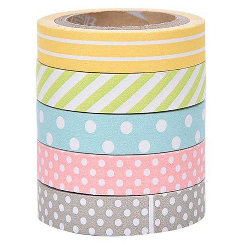 Briljant 5 X Band Sticker Afplakband Sticky Papier Decoratieve Scrapbooking Accessoires Voor Diy Plakboek Decoratie Handleidingen W #8