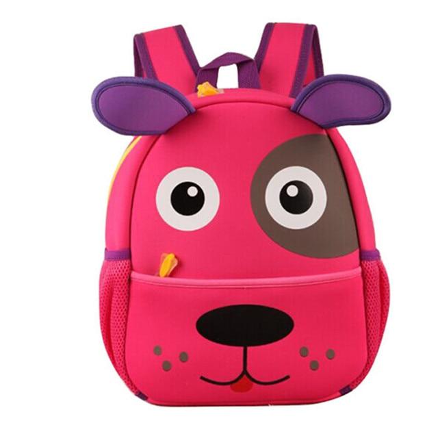 ff6d9d525e6e 4 colors adorable dog puppy design school backpacks kindergarten children s  bag for baby girl and boys
