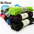 Mr.Niscar 1 Pair Colorful Oval Shoelaces Athletic Sports Sneaker Multi-Color Shoe Laces Polyester Shoelace Bootlaces Strings