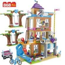 868 шт. строительные блоки для девочек модель дома дружбы укладка кирпичи для девочек Друзья Детские игрушечные фигурки для детей подарок GB08
