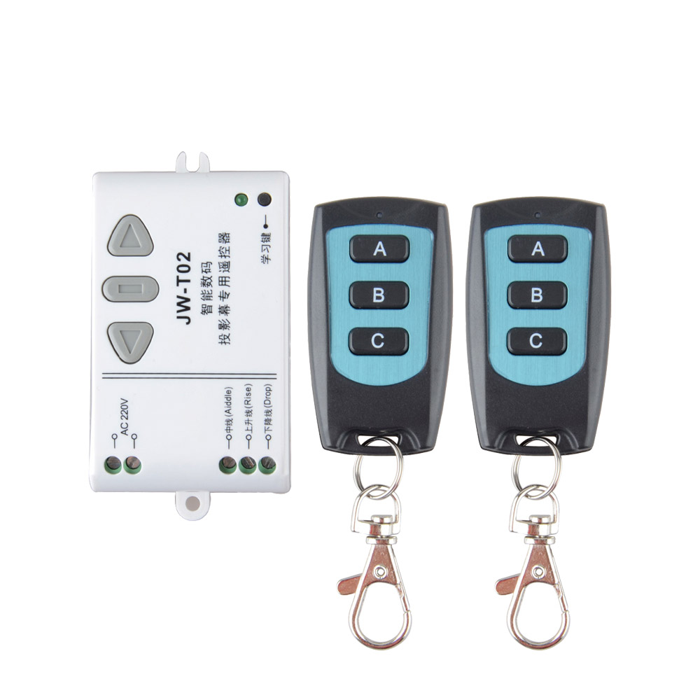 AC 220V Motor RF Wireless Remote Control Switch 220V UP&DOWN 2PCS Remote controller Motor Forwards Reversing Remote Switch 6 pieces receiver 220v wireless remote control switch lamps water pump motor controller switch remote control switch