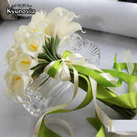 40pcs White Calla Lily bouquet Lace Bouquet wedding flowers bridal bouquets artificial Calla Lily flower wedding bouquet D74