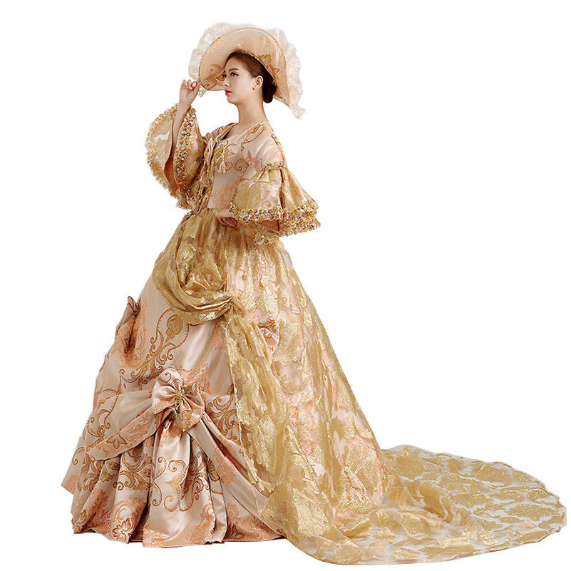 XXL XXXL customized size Victorian Medieval Renaissance Costume Dress Marie Antoinette Theater Ball Gown