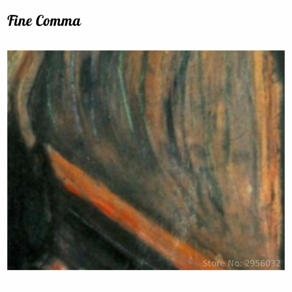 Edvard Munch tərəfindən qışqırıq 1893 Canvas Rəsm Divar - Ev dekoru - Fotoqrafiya 6