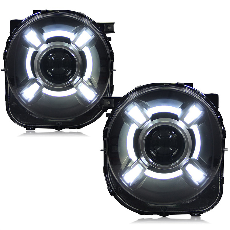 Pair For 2015-2017 Jeep Renegade HID Headlight with DRL and Bi-xenon Projector For Jeep Renegade BU HID H4 Head Lamp Headlights (7)