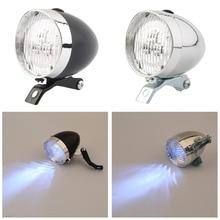 ¡Oferta! ¡venta al por mayor! 3 luces LED para bicicleta, faro delantero Retro de alta calidad para bicicleta, linterna Vintage