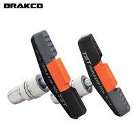 1 par brakco bicicleta pastilhas de freio sapatos 55mm para 14