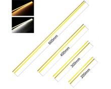 hot deal buy 10pcs 12v led cob strip 200mm 300mm 400mm 500mm 600mm flexible strip bar lights warm white for car outdoor light cob led tubes