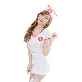 2020 New Sexy Nurse Erotic Costumes Sexy Maid Lingerie Sexy Role Play Women Erotic Lingerie Sexy Underwear Games Cosplay Uniform