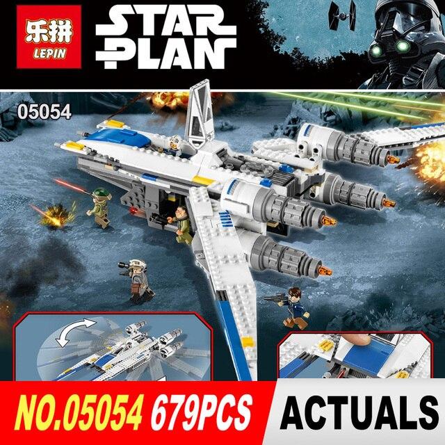 Nuevo 679 unids Lepin 05054 Serie Star Rebel U ala aviones de combate Modelo de Bloques de Construcción Ladrillos Juguetes 75155 Niños regalos
