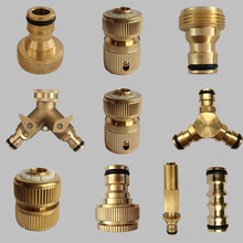 10 jenis 16mm Threaded Brass Garden Hose Tap Connector Garden Water Connector Quick Pipe for Watering Irrigation System
