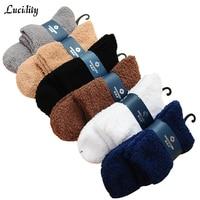 Lucidity Men Socks Cotton Comfortable Medium Tube Man Socks Breathable Absorb Sweat Socks Male 3pairs Lot