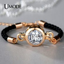 UMODE Chain & Link Bracelets Brand Fashion Jewelry Champagne Gold Plated Pulseira Feminina Christmas Gifts Bijoux Femme AUB0091