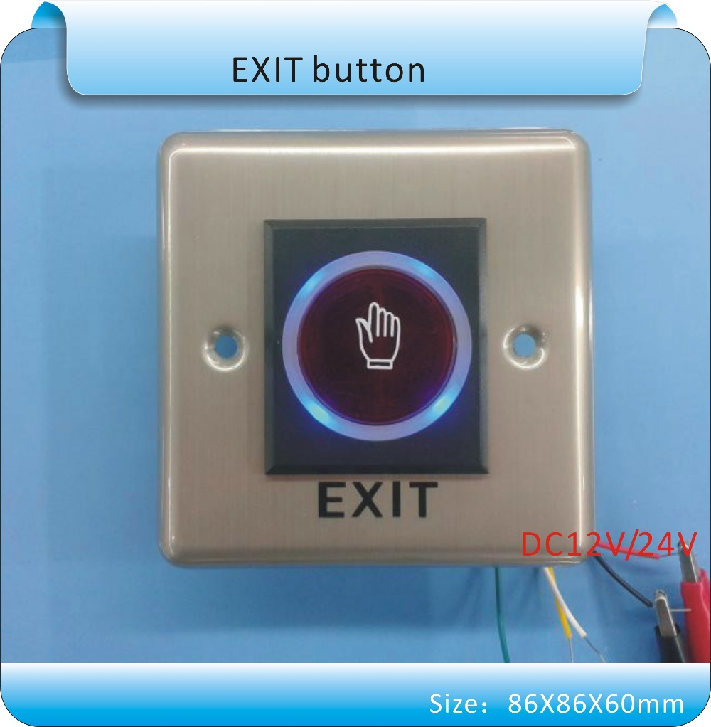 Free shipping 86X86mm Infrared Sensor Switch No/Nc Touch Contactless Door Release Exit  Button with LED Indication thyssen parts leveling sensor yg 39g1k door zone switch leveling photoelectric sensors