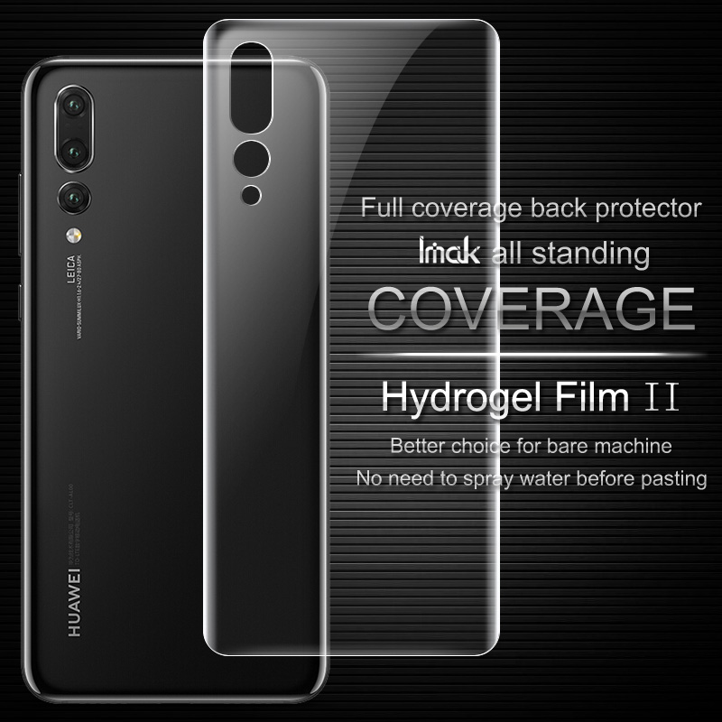 Imak Anti Glare Hydrogel Film 2th Generation for HUAWEI P20 Pro Back Cover Protector for P20 Pro 3D Full Cover Protector Film