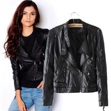 New Fashion Autumn Women's Jacket Washing PU Leather Zipper Motorcycle Leather Short Jacket