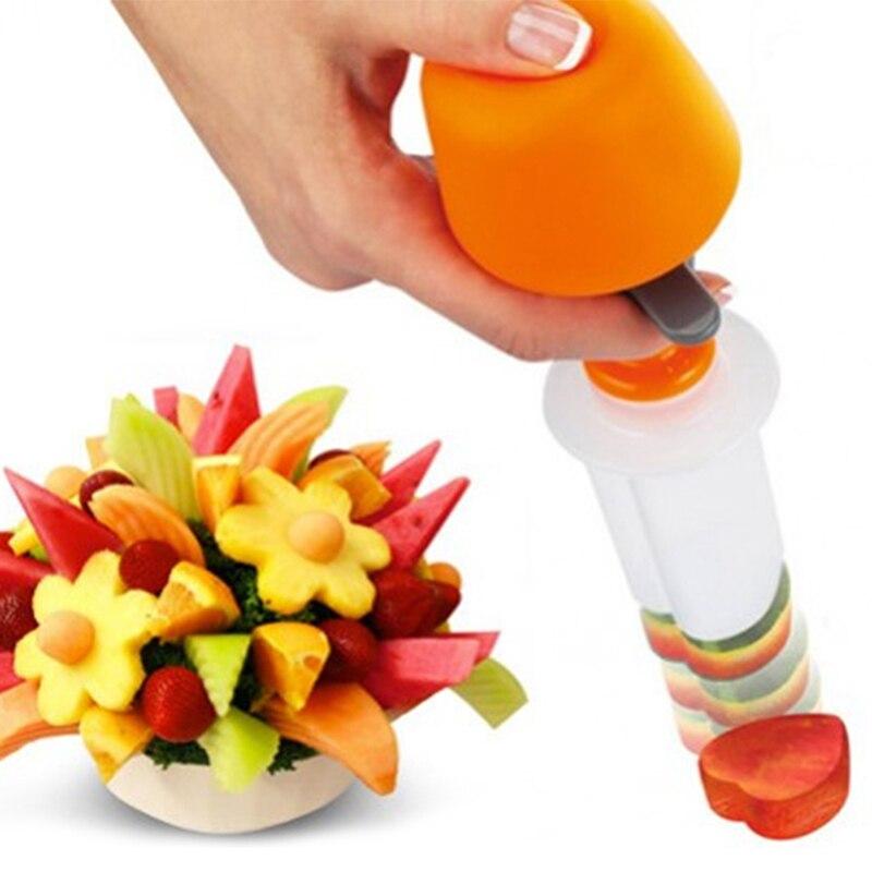7 шт./компл. форма для фруктов DIY Кухня Многофункциональный Практичный Прочный пластиковый фруктовый пресс-формы для кухни - Цвет: A