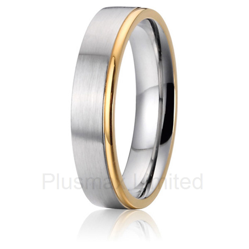 high quality Titanium romance and the promise of a happy future together men gift wedding band rings anel feminino cheap pure titanium jewelry wholesale a lot of new design cheap pure titanium wedding band rings