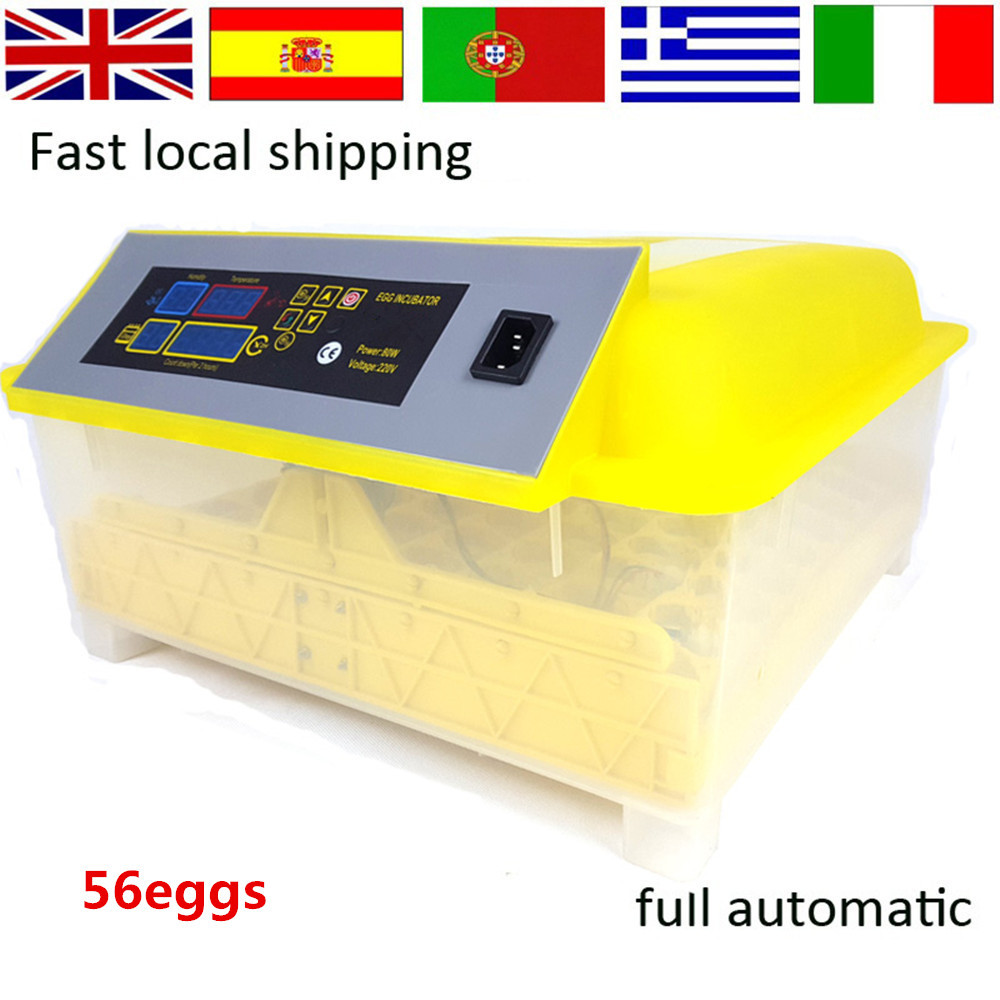 Automatic 56 Egg Incubator for Chicken quail eggs LED Display Turning Time Temperature Alarm hatchery machine Poultry Hatcher  цены