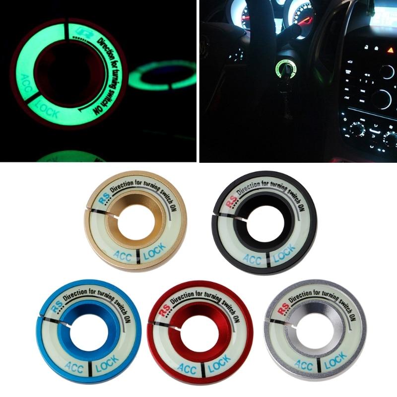 Car Luminous Ignition Key Hole Ring Switch Decor Sticker For Skoda Octavia Fabia YETI VW Passat Bora   POLO   GOLF 6 Jetta MK5 MK6