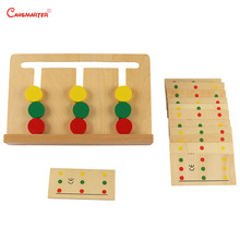 3 Colors Game Montessori Educational Math Toys Number Training Brain Teaser Children Materials Wood Toy Preschool Home SE046-3