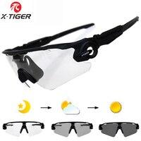 X TIGER Sport Photochromic Polarized Glasses Cycling Eyewear Bicycle Glass MTB Bike Bicycle Riding Fishing Cycling
