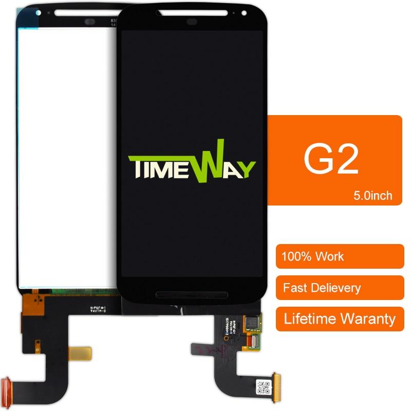 Dhl 30 unids 100% nuevo teléfono de pantalla para motorola moto g2 G + 1 Xt1063