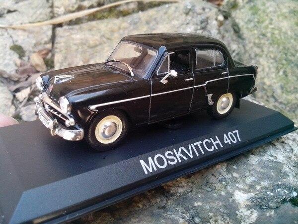 Regalo modelo, alta simulación 1:43 aleación soviética serie moskvitch 407 Moscú coche clásico, envío libre
