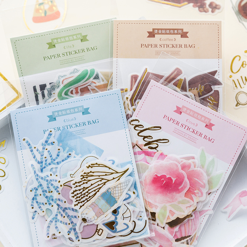 50 Pcs/lot Bronzing Beautiful plant flower paper sticker decoration DIY album diary scrapbooking label sticker kawaii stationery50 Pcs/lot Bronzing Beautiful plant flower paper sticker decoration DIY album diary scrapbooking label sticker kawaii stationery