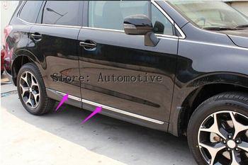 ABS Chrome drzwi boczne nadwozia Molding odlewnictwo zgrabna dla Subaru Forester 2013 2014 2015 2016 2017