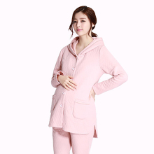Autumn Winter Maternity Nursing Clothes For Pregnant Women Pijama Casual Warm Cotton Maternity Nursing Sleepwear Set 50M0005