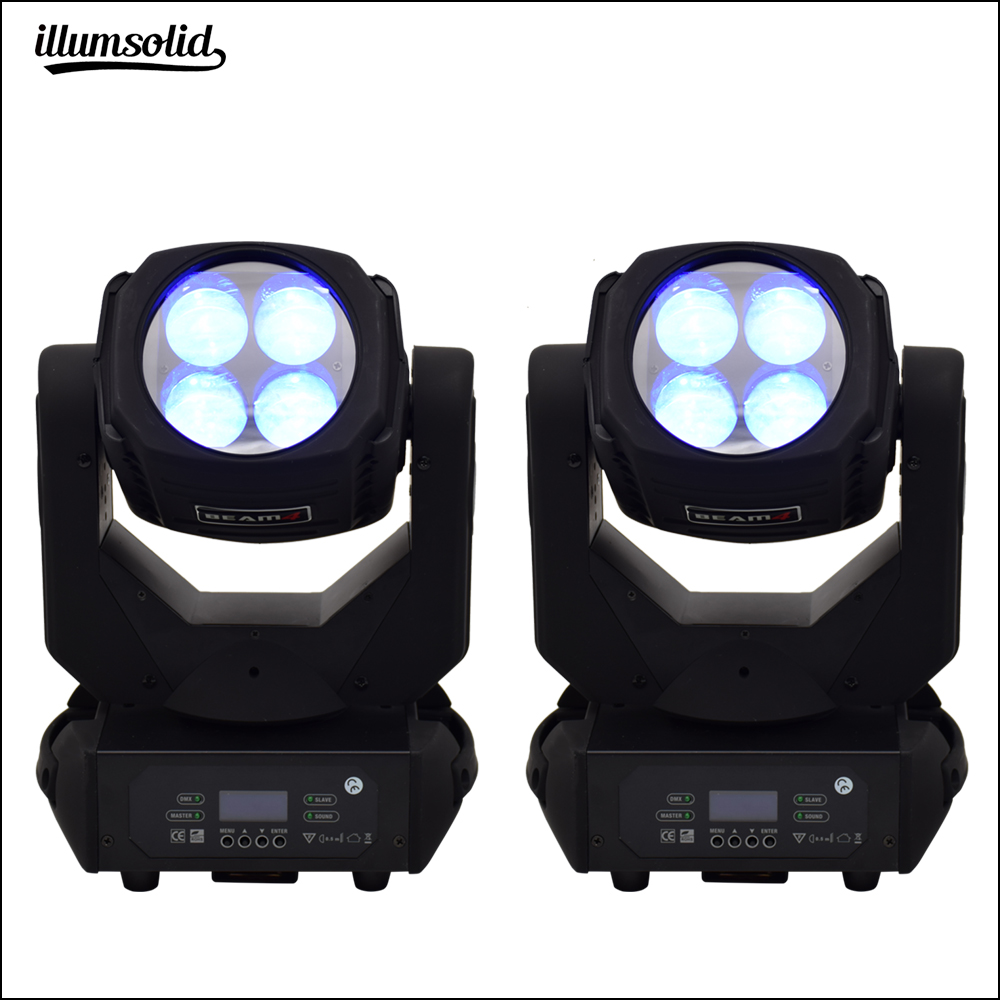 Super Beam 4x25w Led Moving Head Light Infinitely Rotating Lens Stage Professional Lighting (2 Pieces/lot)