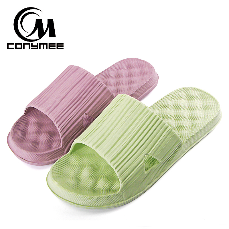 CONYMEE Summer Shoes Sandalias Mujer 2018 Couples Beach Sandals Flip Flops Men Women Indoor Home Slippers Massage Slipper Shoe