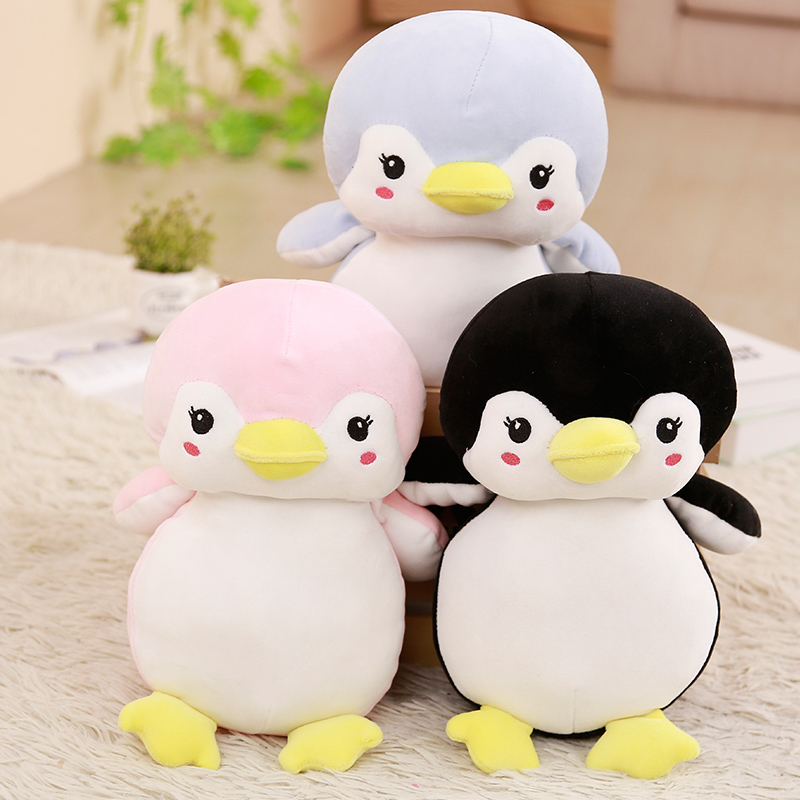 Super Soft Cute Penguin Stuffed Animal Toy Soft Doll Three Color Penguin Soft Toy