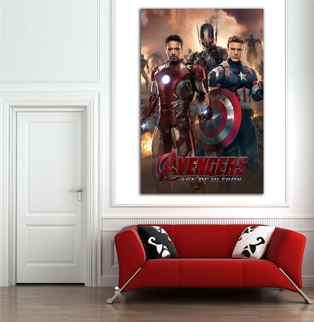 Movie Themed Living Room 2015 Newest Come Marvel Movie Avangers Sticker Wall Decorations