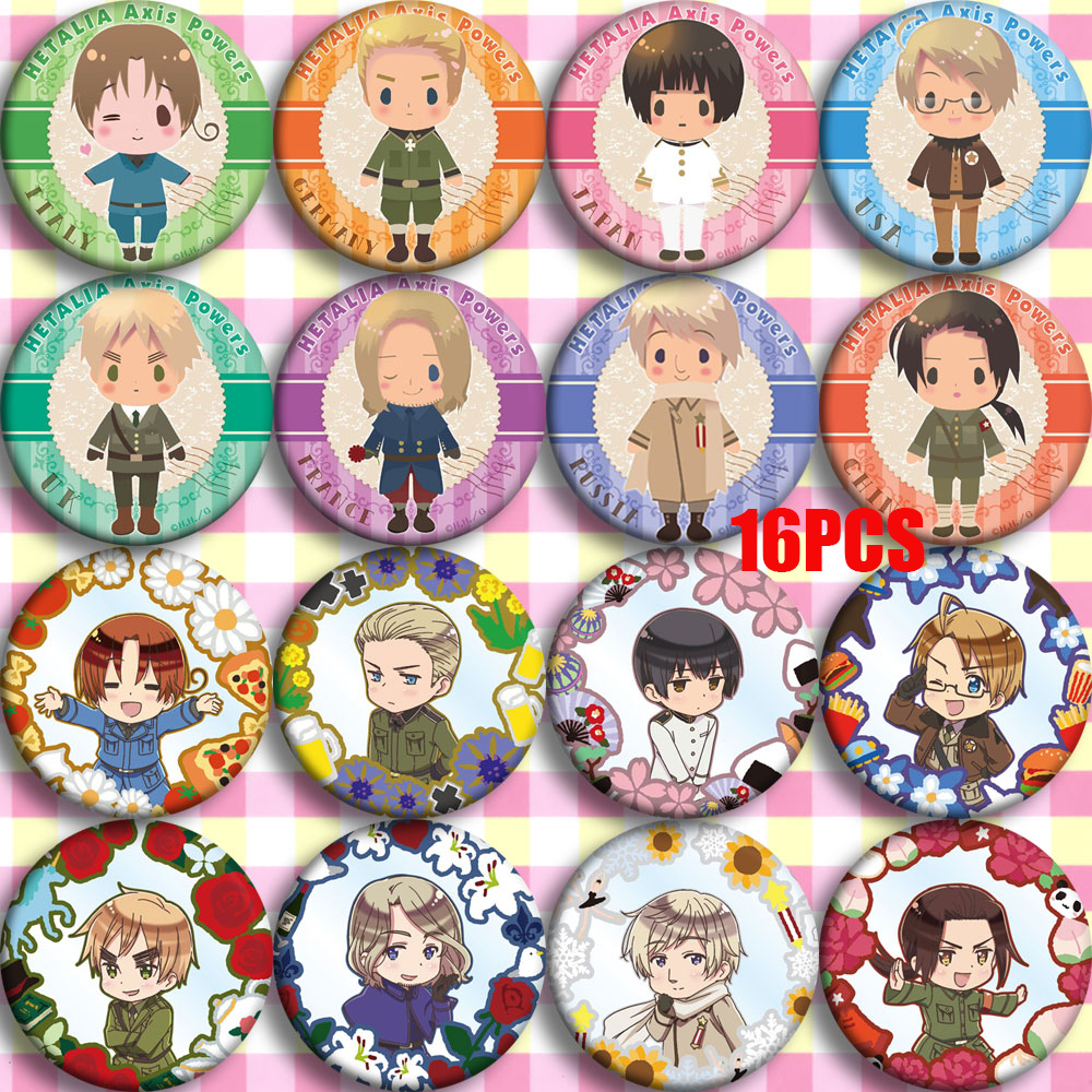 Anime Hetalia: Axis Powers Feliciano Vargas Cosplay Party Bedge Cartoon Collect Bags Badges For Backpack Button Brooch Pin Gift