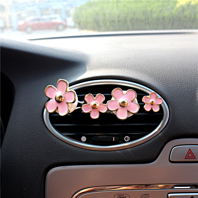 Car Perfume Vent Clip Flower 1pc Decor Air Freshener Automobile Air Conditioner Solid Fragrance Smell Diffuser Small Gift New Air Freshener