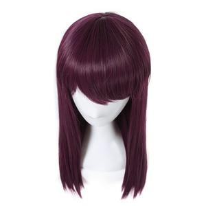 Image 5 - L email peruk Yeni Film Mal Karakter Cosplay Peruk 50 cm Uzun Mor Isıya Dayanıklı Sentetik Saç Peruk Cosplay peruk