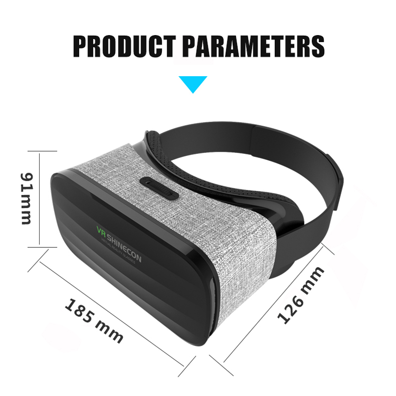 VR shinecon Y005 Stereo Virtual Reality 3D Glasses colth 360 Degree Immersive Cardboard VR glasses for 4.7-6.0 Inch Smartphone